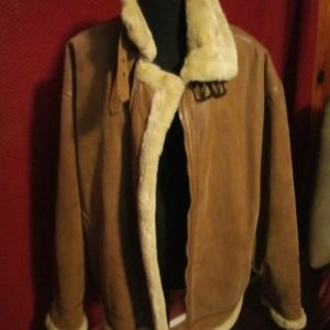 Men Protocol echt leder genuine leather tan jacket